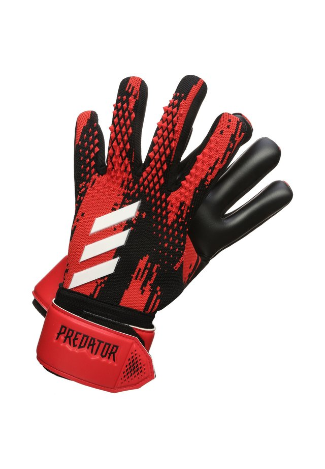 PREDATOR 20 LEAGUE - Goalkeeping gloves - black / action red