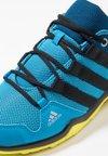 adidas Performance - TERREX AX2R - Trekingové boty - shock cyan/clear black/shock yellow