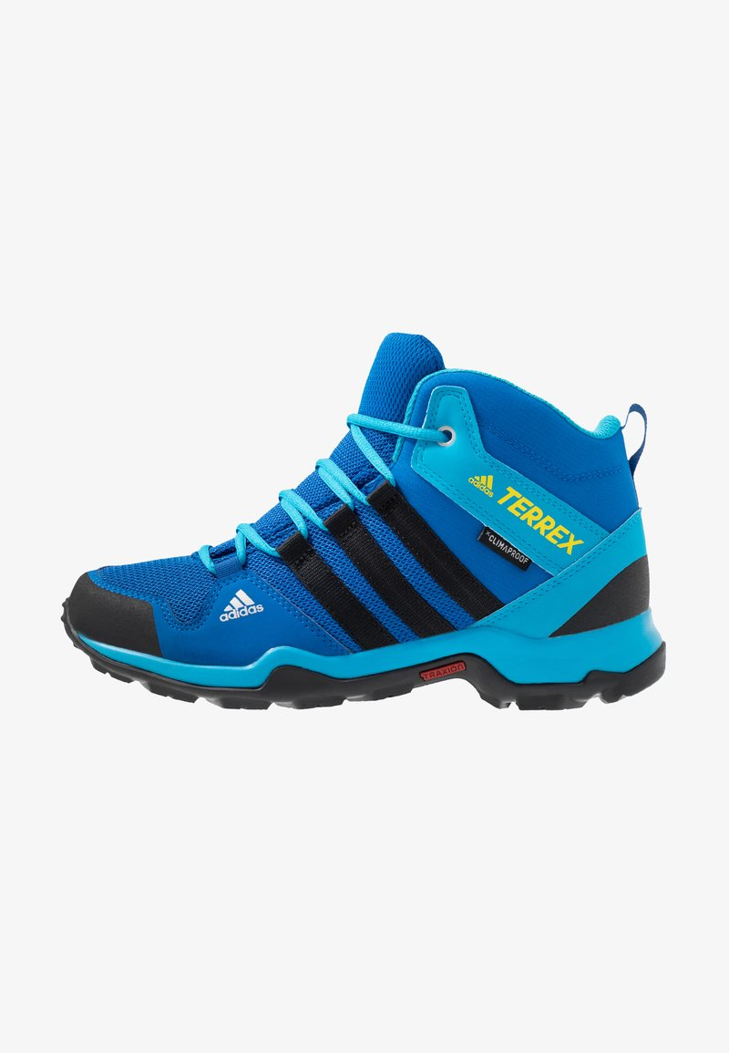 adidas Performance - TERREX AX2R MID CLIMAPROOF HIKING SHOES - Hikingschuh - blue beauty/core black/shock yellow
