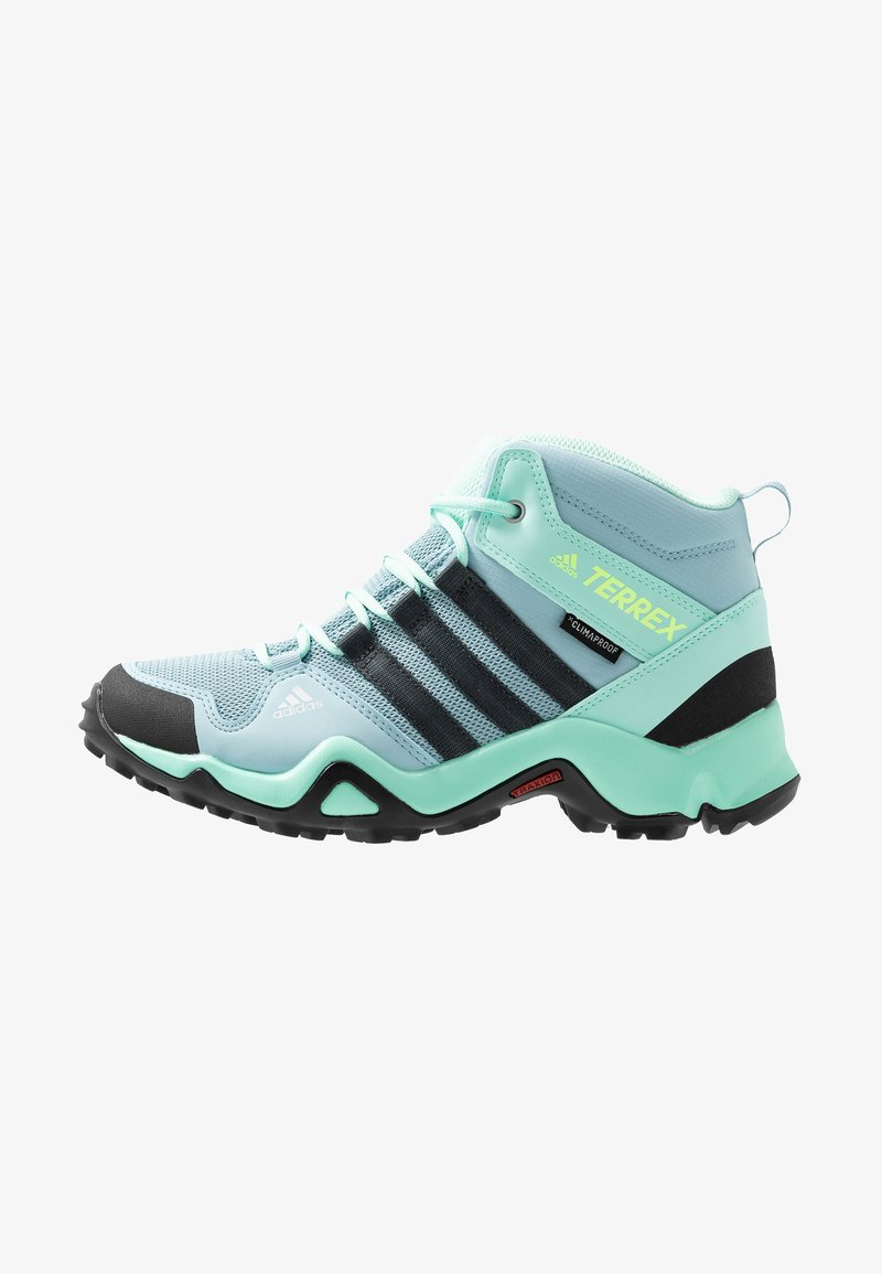 adidas Performance - TERREX AX2R MID CLIMAPROOF HIKING SHOES - Trekingové boty - ash grey/carbon/clear mint