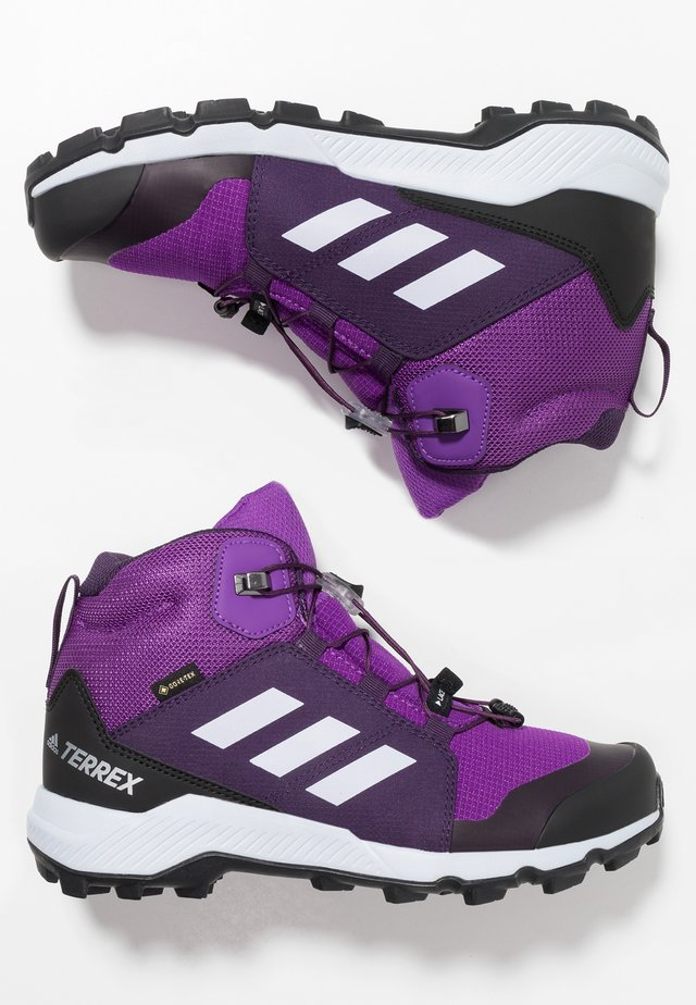 TERREX MID GORE-TEX - Hiking shoes - active purple/aero blue/true pink