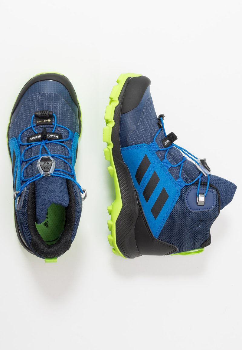 adidas Performance - TERREX MID GORE-TEX - Outdoorschoenen - tech indigo/core black/signal green