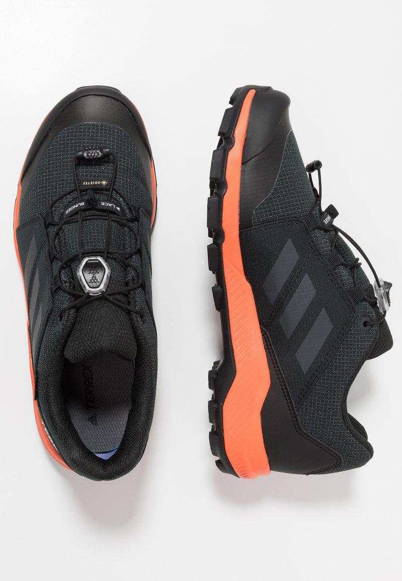 adidas Performance - TERREX GORE TEX HIKING SHOES - Outdoorschoenen - core black/carbon/true orange