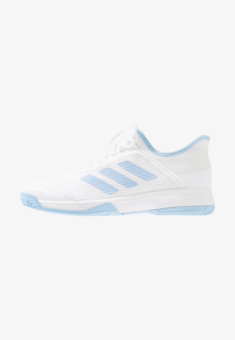 adidas Performance - ADIZERO CLUB - Tennisschoenen voor kleibanen - footwear white/glow blue