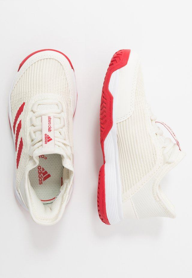 ADIZERO CLUB - Clay court tennis shoes - offwhite/scarlett/footwear white