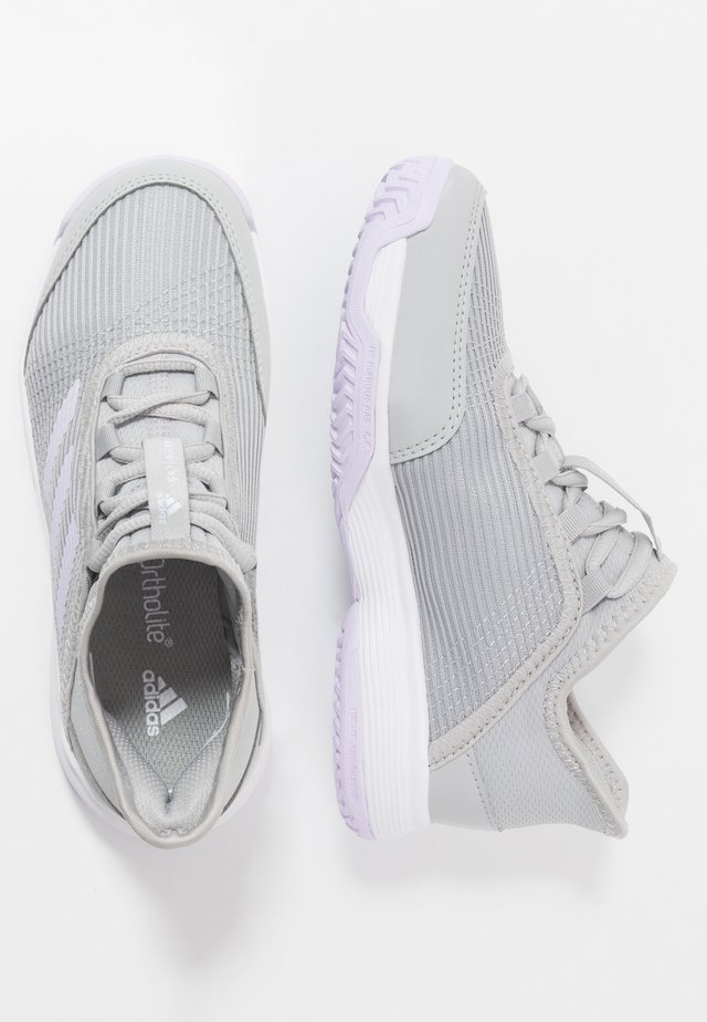 ADIZERO CLUB - Tennisschuh für Sandplätze - grey two/purple tint/footwear white