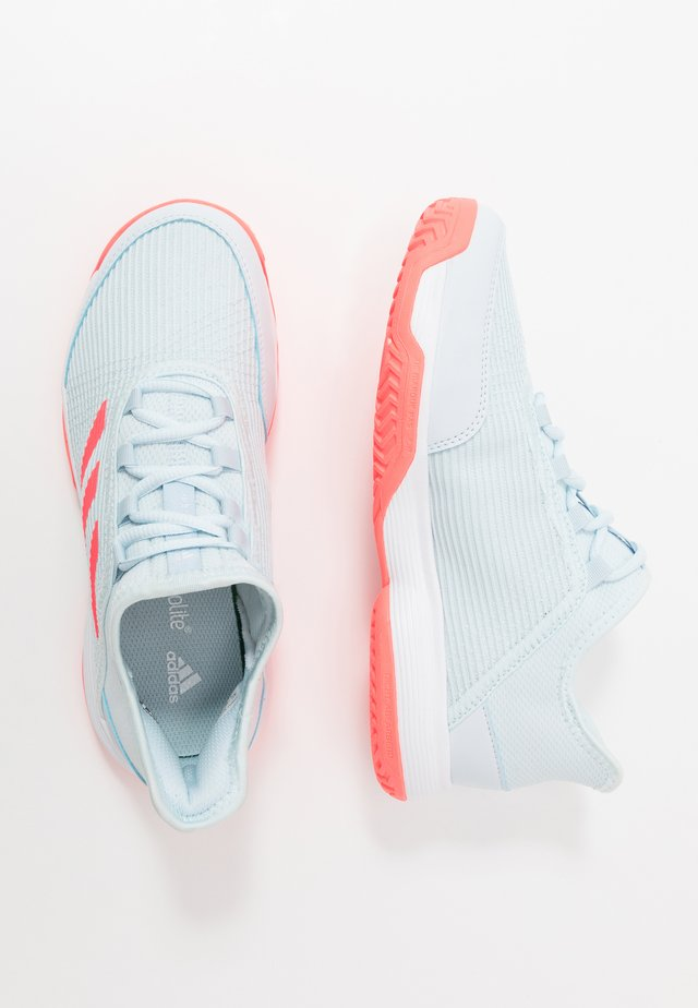 ADIZERO CLUB - Clay court tennis shoes - sky tint/signal pink/footwear white