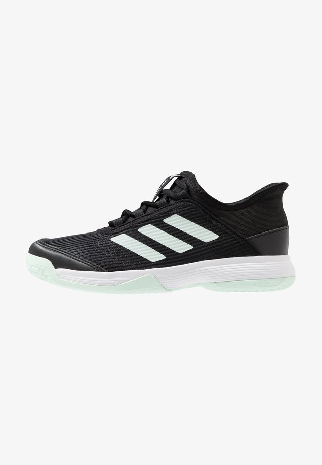 ADIZERO CLUB - Tennisschuh für Sandplätze - core black/green/footwear white