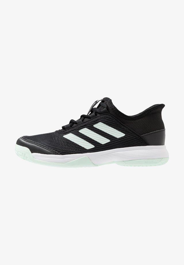 ADIZERO CLUB - Tennisschoenen voor kleibanen - core black/green/footwear white