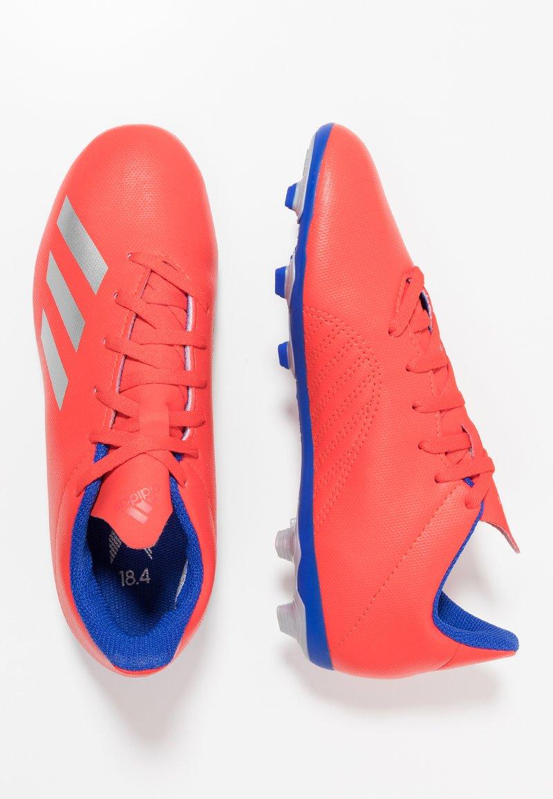 adidas Performance - X 18.4 FXG - Korki Lanki - active red/silver metallic/bold blue
