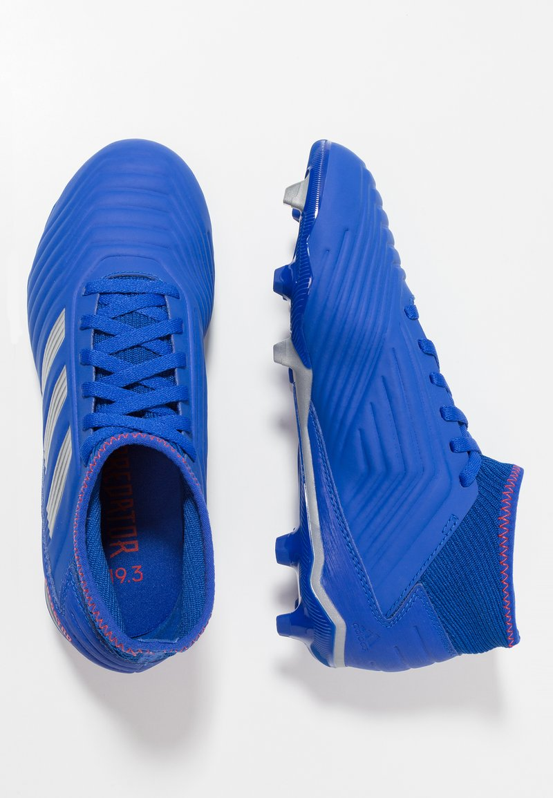 adidas Performance - PREDATOR 19.3 FG - Fußballschuh Nocken - bold blue/silver metallic/activ red