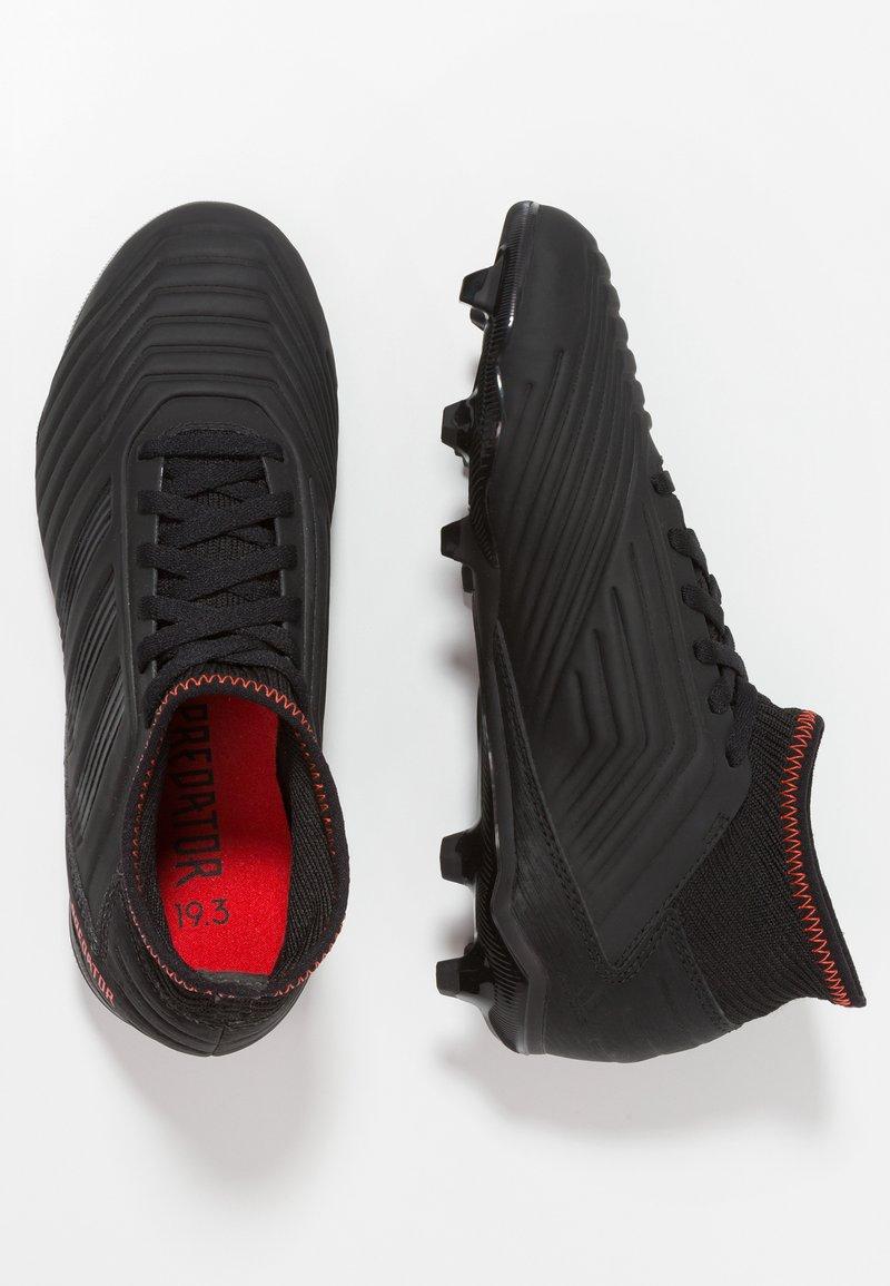 adidas Performance - PREDATOR 19.3 FG - Scarpe da calcetto con tacchetti - core black/active red