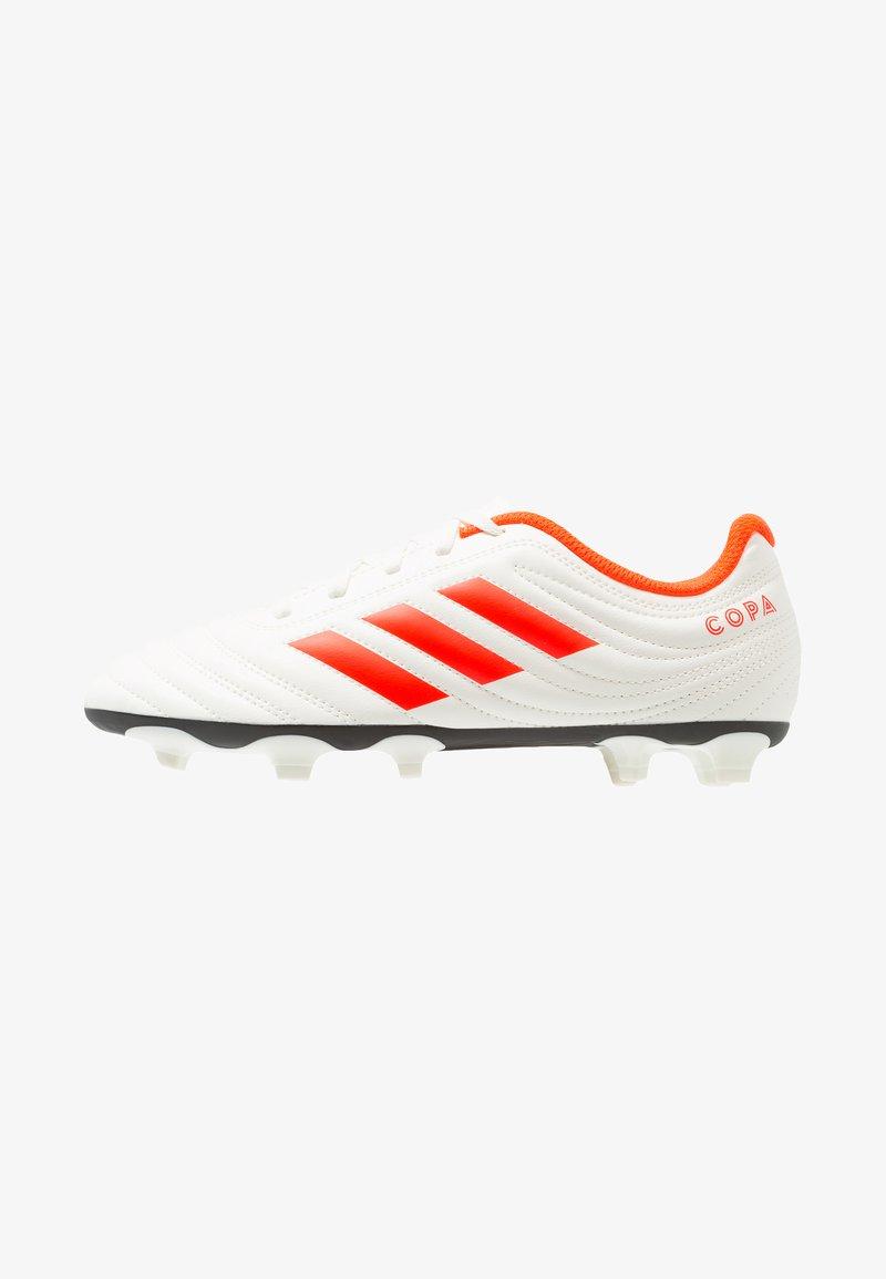 adidas Performance - COPA 19.4 FG - Voetbalschoenen met kunststof noppen - offwhite/solar red