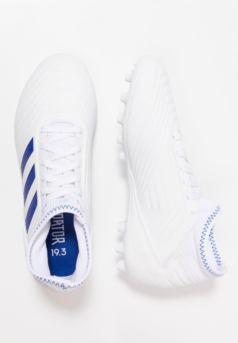adidas Performance - PREDATOR 19.3 AG - Korki Lanki - footwear white/bold blue