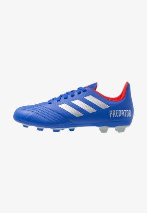PREDATOR 19.4 FXG - Voetbalschoenen met kunststof noppen - bold blue/silver metallic/activ red