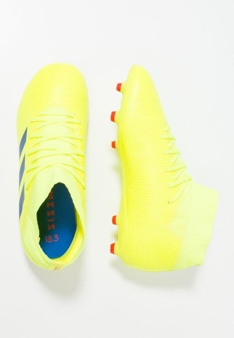 adidas Performance - NEMEZIZ 18.3 FG - Voetbalschoenen met kunststof noppen - solar yellow/football blue/active red