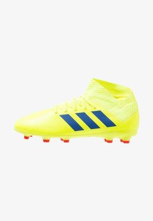 NEMEZIZ 18.3 FG - Tekonurmikengät - solar yellow/football blue/active red