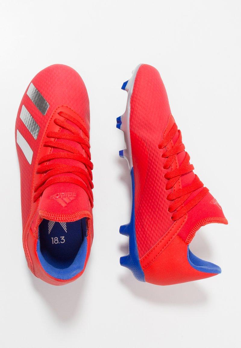 adidas Performance - X 18.3 FG - Korki Lanki - active red/silver metallic/bold blue