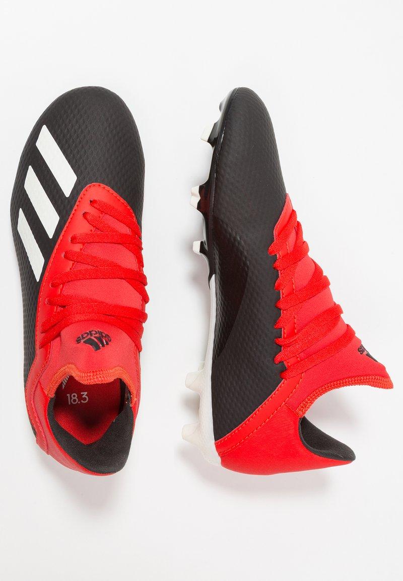 adidas Performance - X 18.3 FG - Voetbalschoenen met kunststof noppen - black
