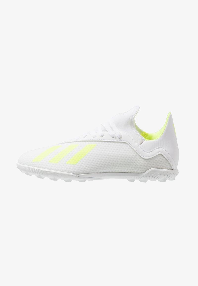 adidas Performance - X 18.3 TF - Korki Turfy - footwear white/solar yellow