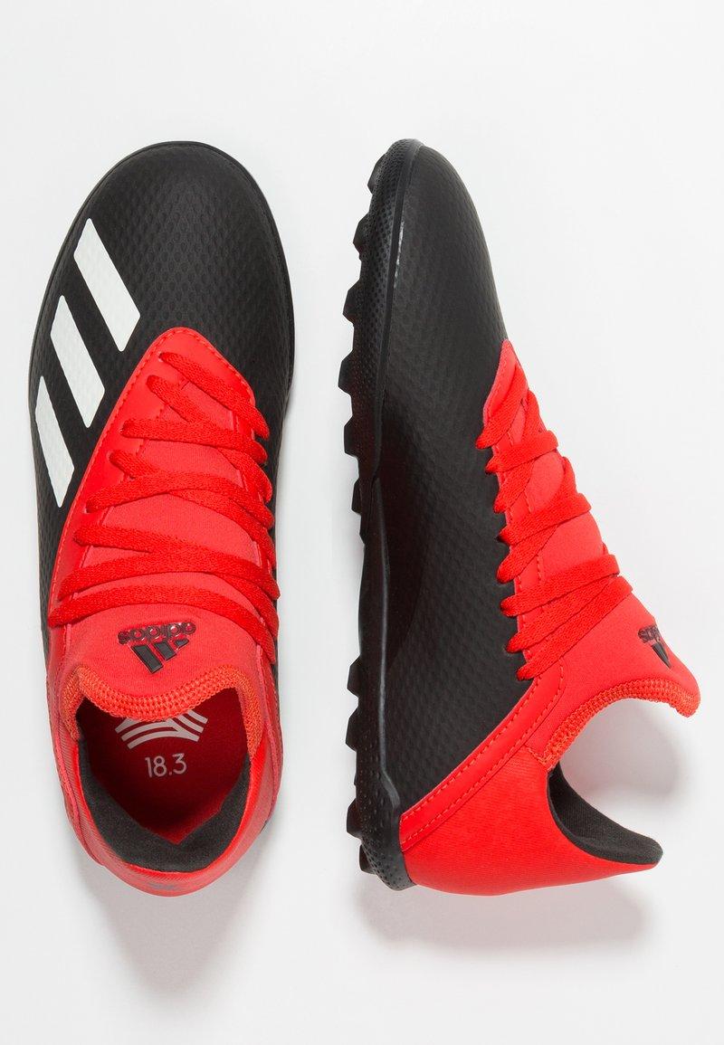 adidas Performance - X 18.3 TF - Fußballschuh Multinocken - core black/offwhite/active red