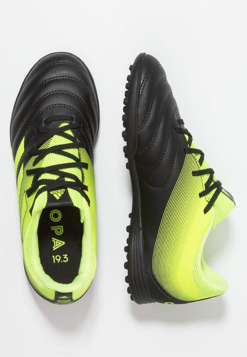 adidas Performance - COPA 19.3 TF - Fußballschuh Multinocken - core black/solar yellow