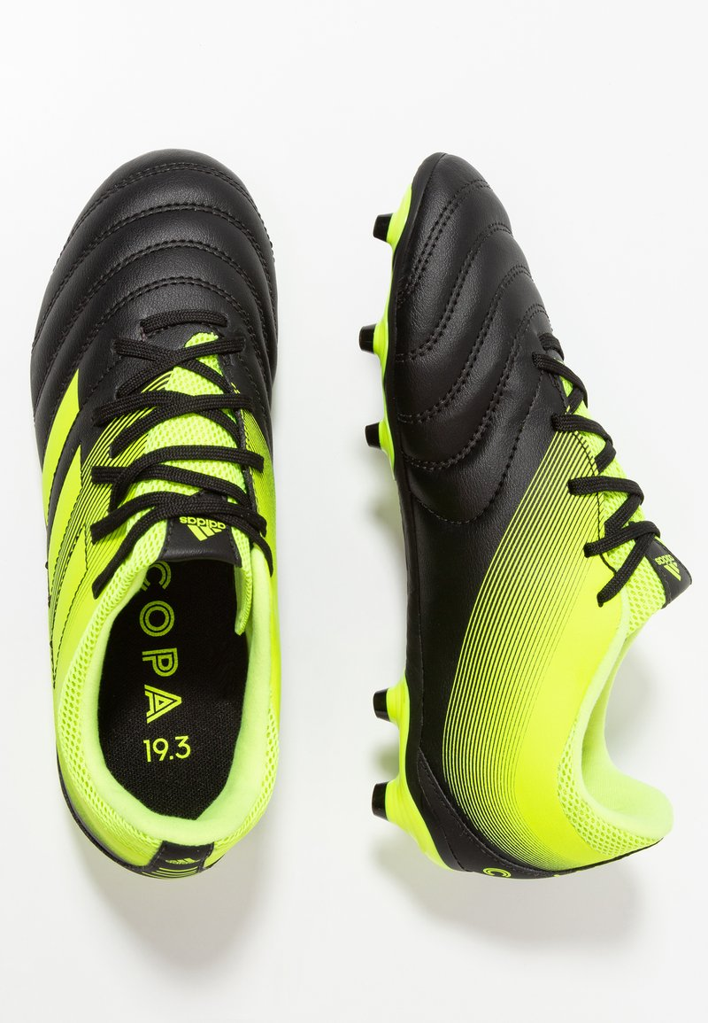 adidas Performance - COPA 19.3 FG - Moulded stud football boots - core black/solar yellow