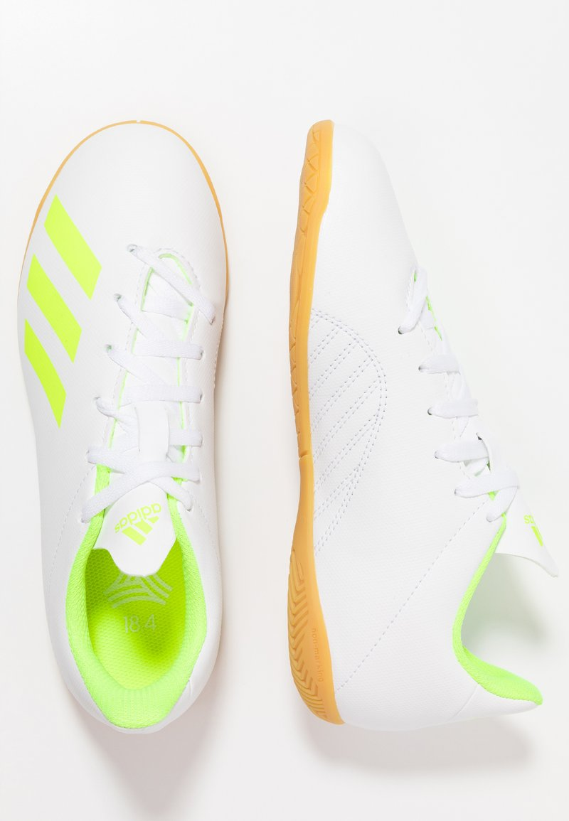 adidas Performance - X 18.4 IN - Scarpe da calcetto - footwear white/solar yellow