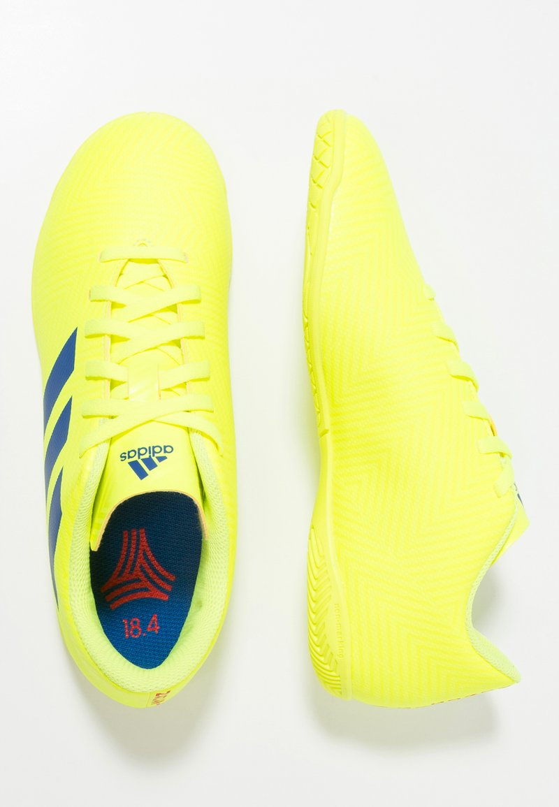 adidas Performance - NEMEZIZ 18.4 IN - Zaalvoetbalschoenen - solar yellow/football blue/activ red