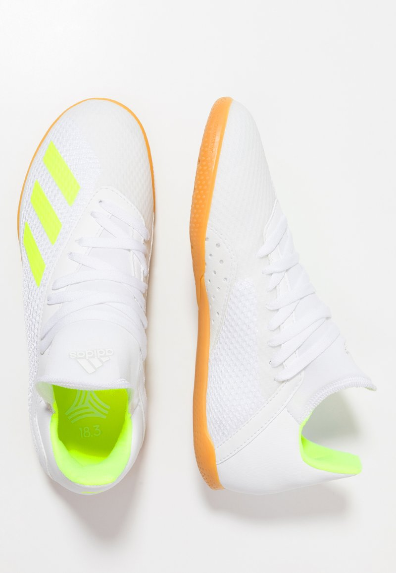 adidas Performance - X 18.3 IN - Fußballschuh Halle - footear white/solar yellow