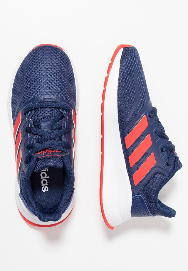 RUNFALCON - Neutral running shoes - dark blue/active red/core black