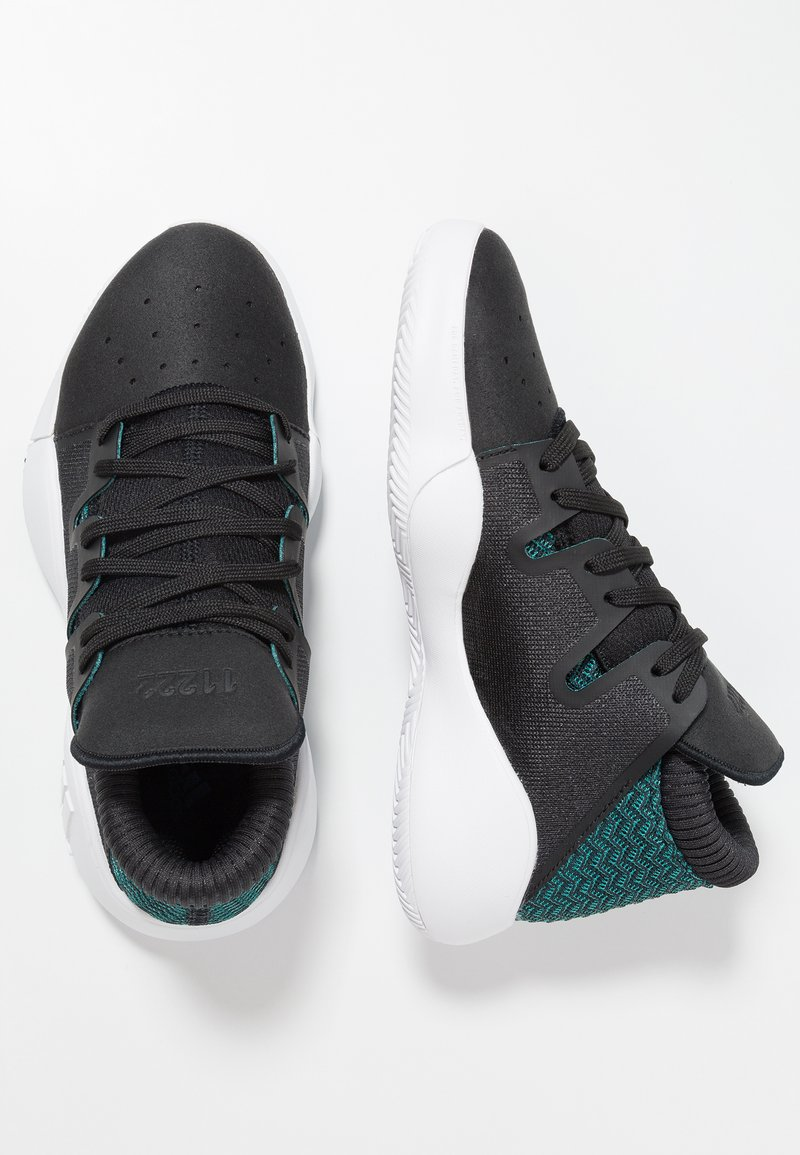 adidas Performance - PRO VISION - Basketsko - core black/footwear white/active green