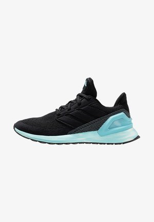 RAPIDARUN - Neutral running shoes - core black/ash green