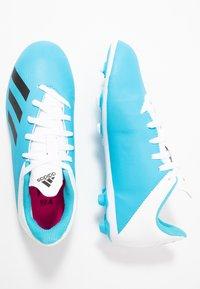 adidas Performance - X 19.4 FXG - Voetbalschoenen met kunststof noppen - bright cyan/core black/shock pink - 0