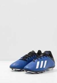 adidas Performance - X 19.4 FXG - Voetbalschoenen met kunststof noppen - royal blue/footwear white/core black - 3