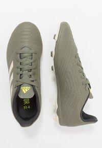 adidas Performance - PREDATOR 19.4 FXG - Voetbalschoenen met kunststof noppen - legend green/sand/solar yellow - 0