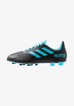 PREDATOR 19.4 FXG - Chaussures de foot à crampons - core black/bright cyan/solar yellow