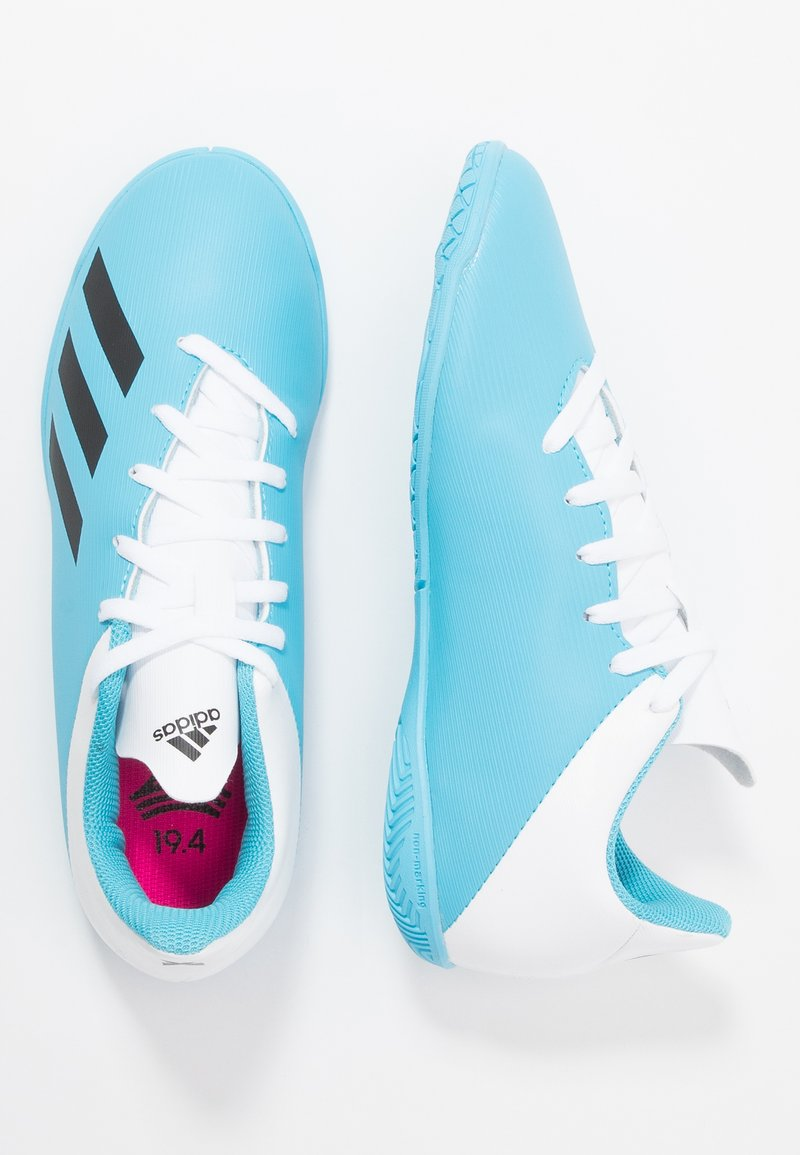 adidas Performance - X 19.4 IN - Indoor football boots - bright cyan/core black/shock pink