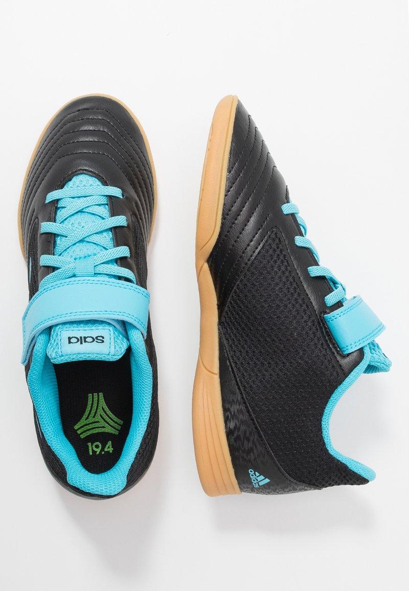 adidas Performance - PREDATOR 19.4 IN SALA  - Scarpe da calcetto - core black/bright cyan/solar yellow