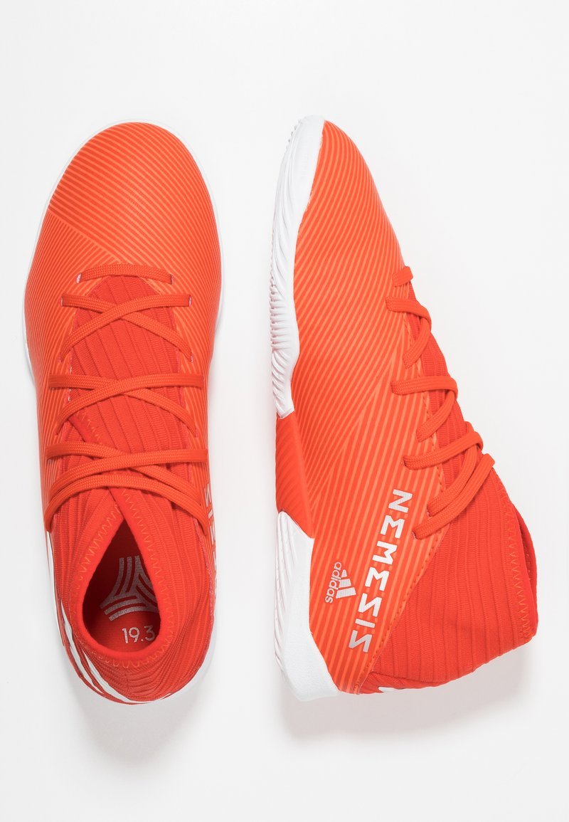 adidas Performance - NEMEZIZ 19.3 IN - Fußballschuh Halle - active red/silver metallic/solar red
