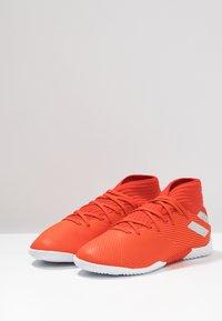 adidas Performance - NEMEZIZ 19.3 IN - Fußballschuh Halle - active red/silver metallic/solar red - 3