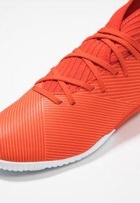 adidas Performance - NEMEZIZ 19.3 IN - Fußballschuh Halle - active red/silver metallic/solar red - 2