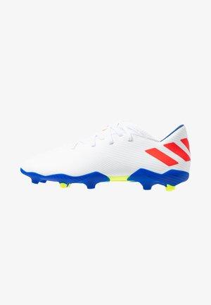 NEMEZIZ MESSI 19.3 FG - Voetbalschoenen met kunststof noppen - footwear white/solar red/football blue