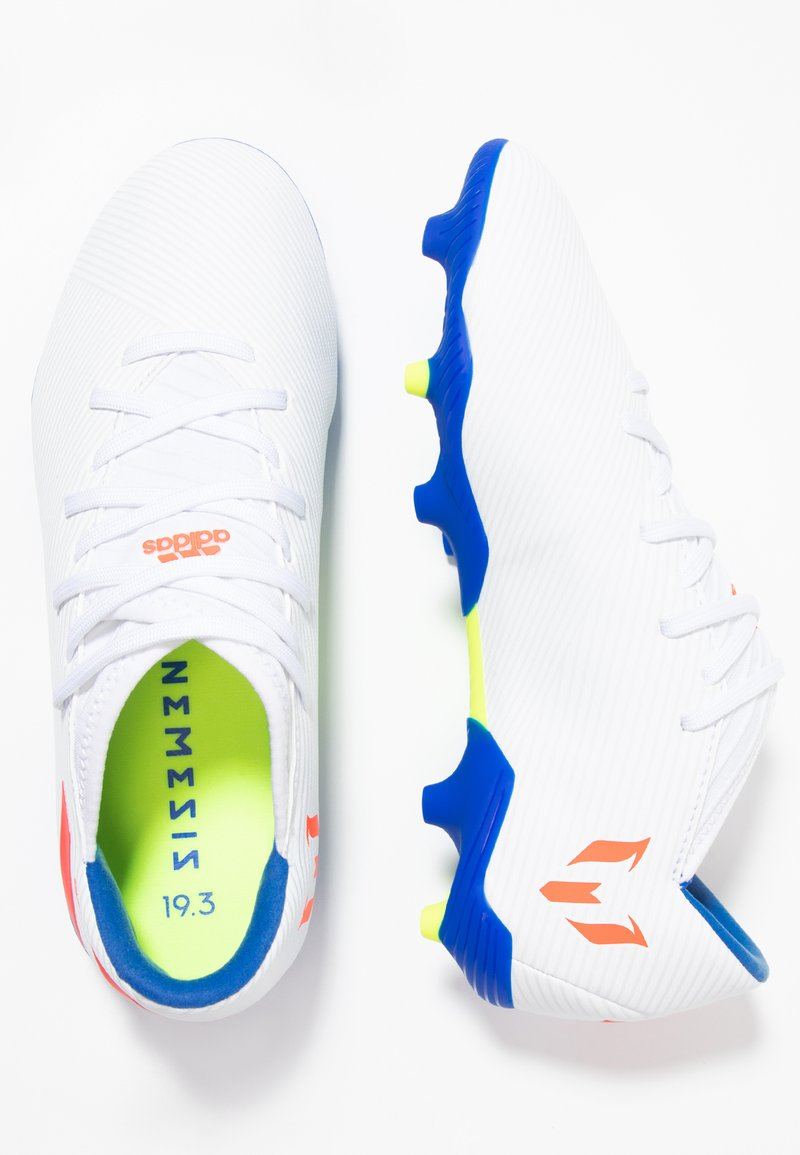 adidas Performance - NEMEZIZ MESSI 19.3 FG - Voetbalschoenen met kunststof noppen - footwear white/solar red/football blue