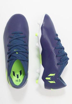 NEMEZIZ MESSI 19.3 FG - Fodboldstøvler m/ faste knobber - tech indigo/signal green/glow purple