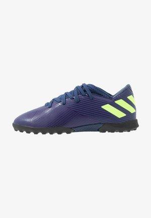 NEMEZIZ MESSI 19.3 TF - Voetbalschoenen voor kunstgras - tech indigo/signal green/glow purple