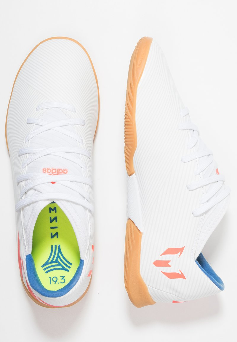 adidas Performance - NEMEZIZ MESSI 19.3 IN - Indoor football boots - footwear white/solar red/football blue