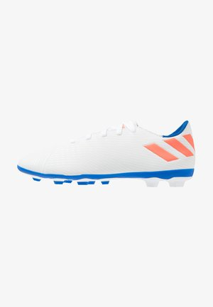 NEMEZIZ MESSI 19.4 FXG - Kopačky lisovky - footwear white/solar red/football blue