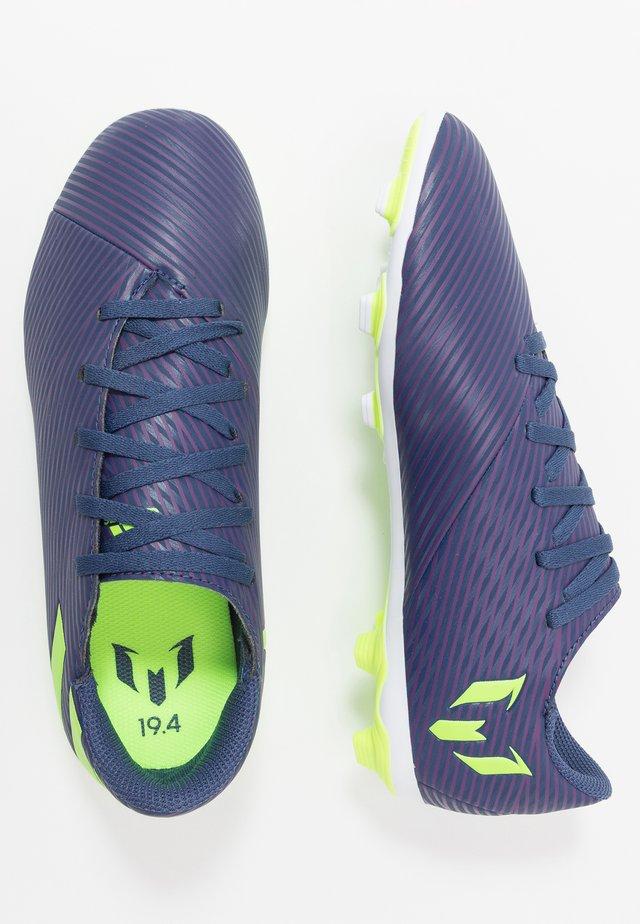 NEMEZIZ MESSI 19.4 FXG - Fußballschuh Nocken - tech indigo/signal green/glow purple