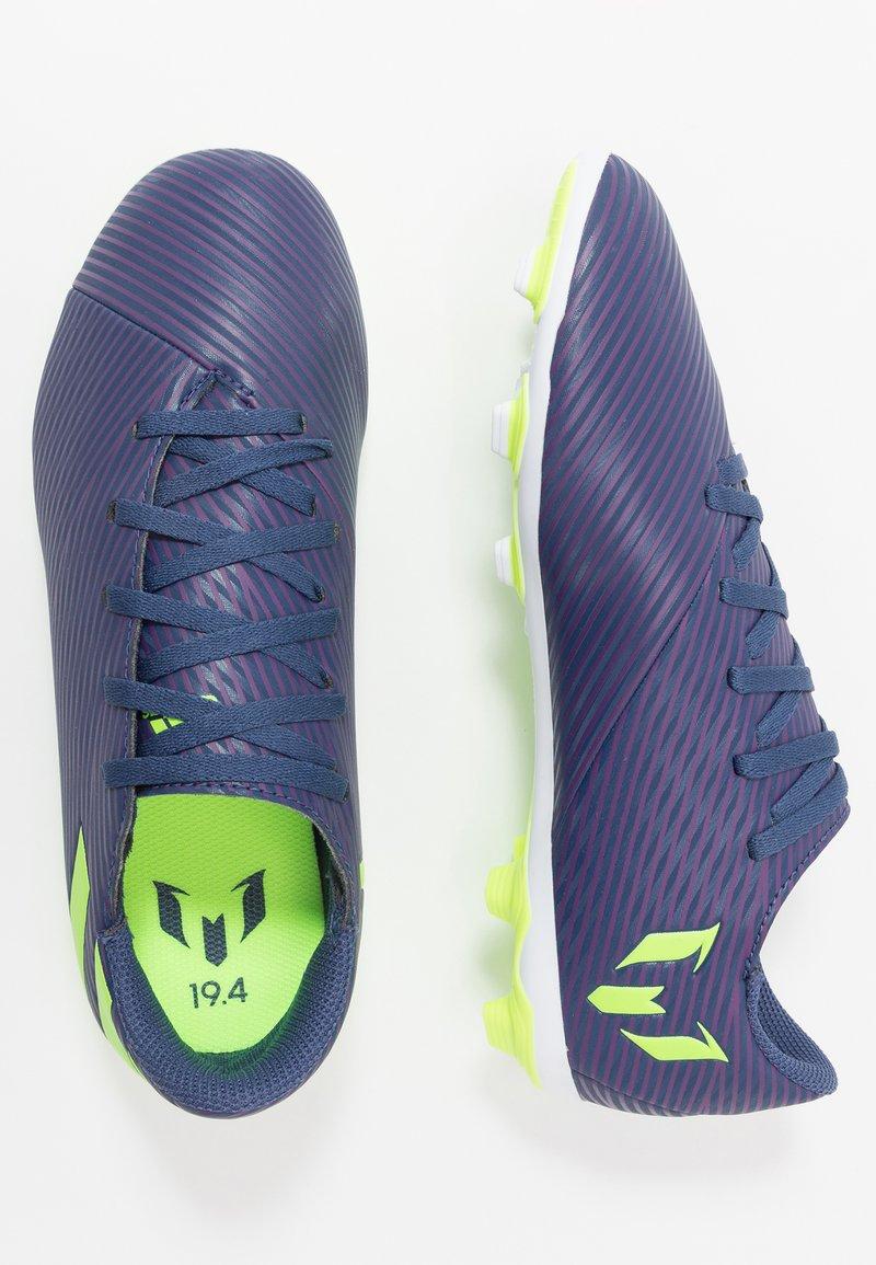 adidas Performance - NEMEZIZ MESSI 19.4 FXG - Fodboldstøvler m/ faste knobber - tech indigo/signal green/glow purple